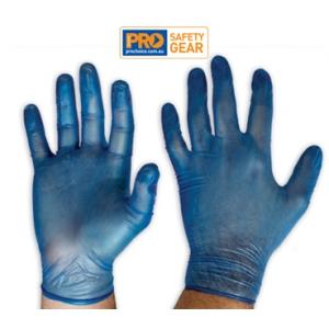 Blue Vinyl - General Purpose Gloves
