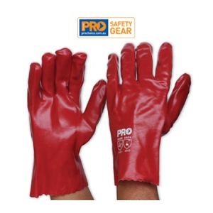 Red PVC Glove - Short