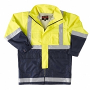Wet Weather Jacket Hi Vis Taped