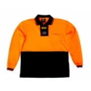 Polo Shirt Polyester Long Seeve