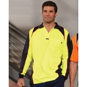 Commando Microfibre Polo Long Sleve