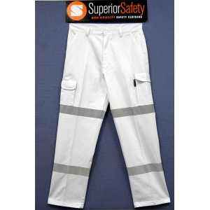 Superior Safety White Cargo Pants