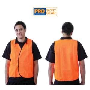 Fluro Orange Safety Vest - Day Use