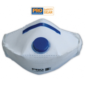 Respirator P2 with Exhalation Valve, Horizontal Flat Fold